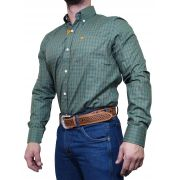 Camisa Masculina All Hunter Verde e laranja Ref. 827