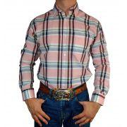 Camisa Masculina American Texas Xadrez Rosa Ref. 13884