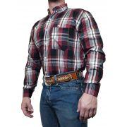 Camisa Masculina Minuty Country Xadrez Vinho Ref. 2500