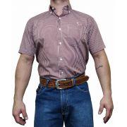 Camisa Masculina Minuty Manga Curta Ref. Xadrez 2502
