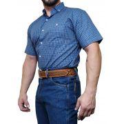 Camisa Masculina Minuty Xadrez Azul M/C Ref 2502