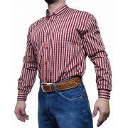 Camisa Masculina Smith Brothers Ref. Xadrez Vermelho/Branco