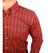 Camisa Masculina Smith Brother's Xadrez Vermelho Ref. 12216/3