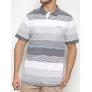 Camisa Polo Masculina Wrangler Listrada Cinza Ref. WM9027UN