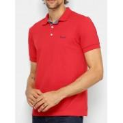 Camisa Polo Wrangler Masculina Vermelha Básica Ref. WM9004VM