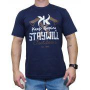 Camiseta Keep Roping  Azul Marinho Ref Staywild