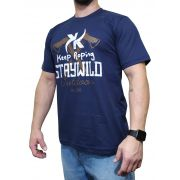 Camiseta Keep Roping  Azul Marinho Ref Staywild