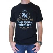 Camiseta Masculina Keep Roping Preta Ref. Wildlife