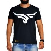 Camiseta Masculina Sacudido's Boi Estilizada Preto e Branco