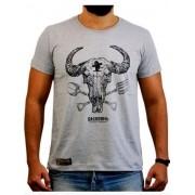 Camiseta Masculina Sacudido's Gadanho Cinza Mescla