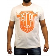 Camiseta Masculina Sacudido's SCD Laranja Off White