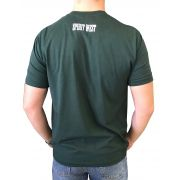 Camiseta Masculina Spirit West Verde Logo Preto/Branco
