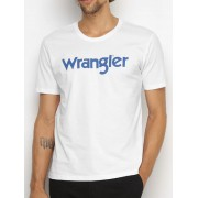 Camiseta Wrangler Branca Logo Azul Ref. WM58522BR