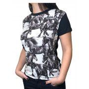 T-Shirt Feminina Minuty Black and White Ref. ST316