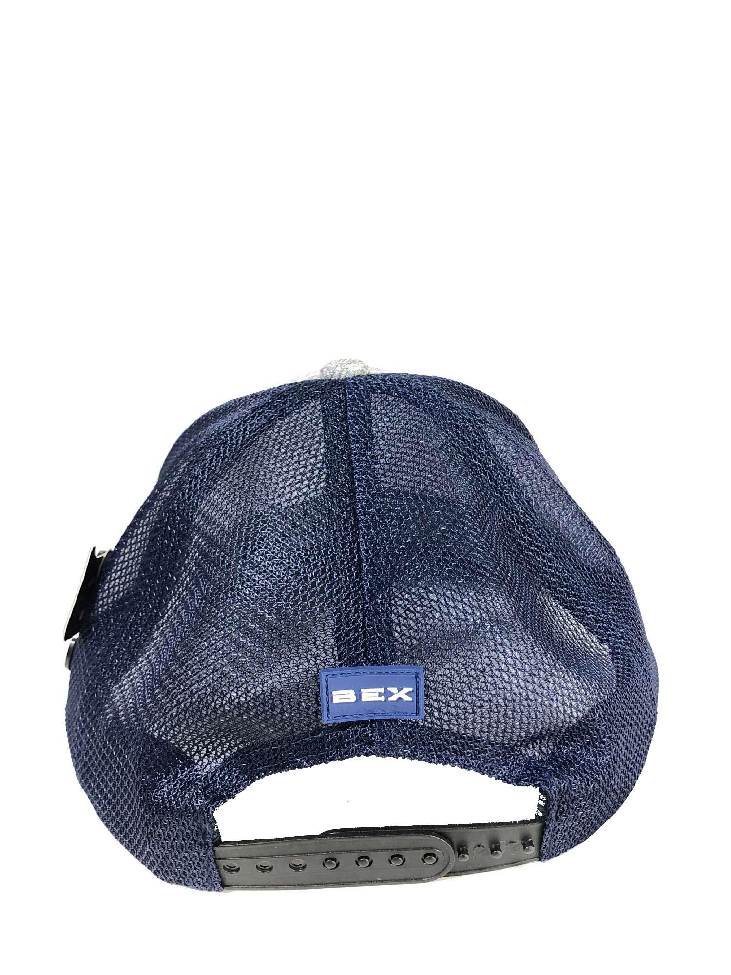 Boné BEX Importado Air Fit em Tela com Regulagem Snapback Masculino Cinza e Azul