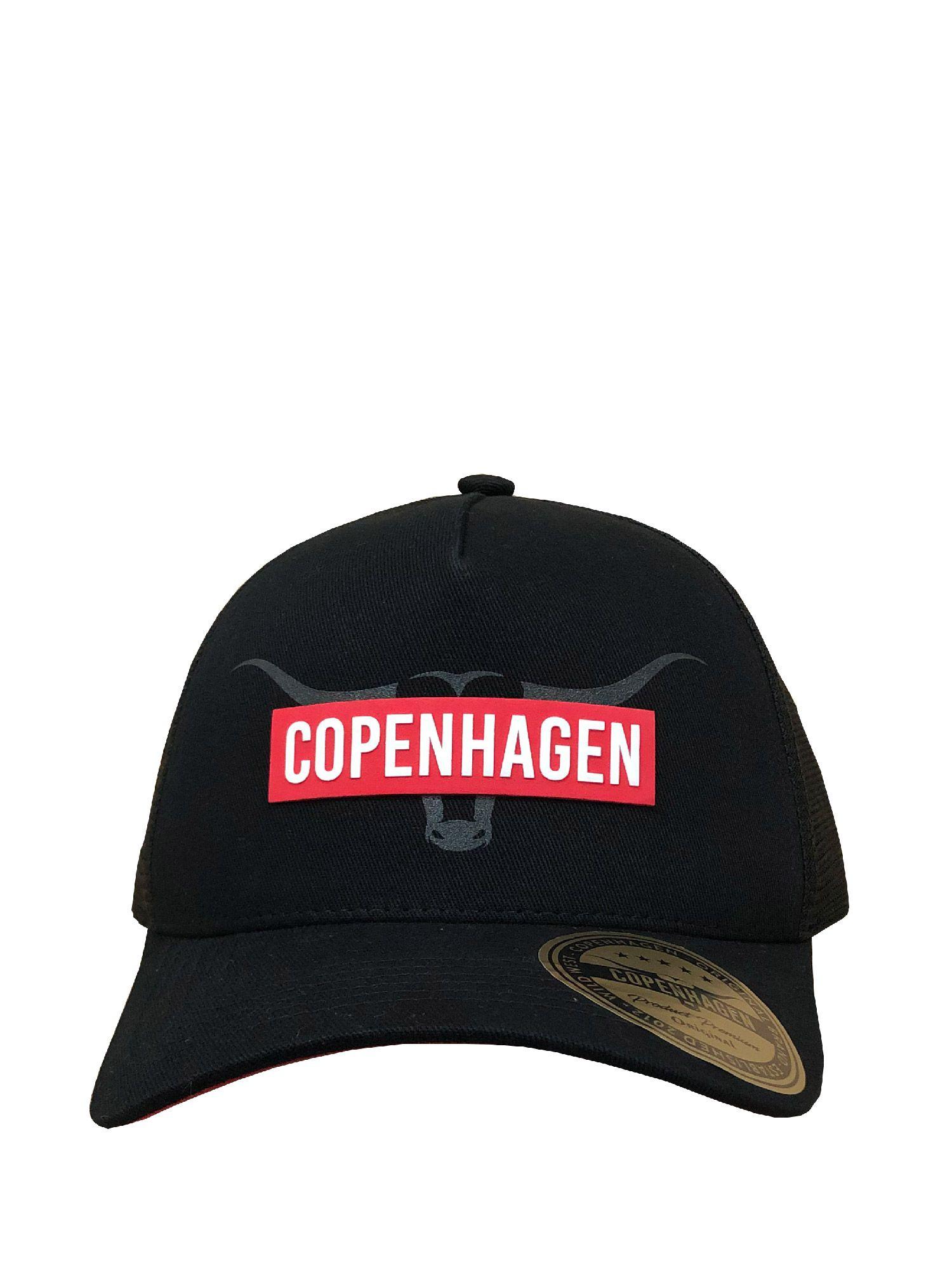 Boné Copenhagen Black Silk Red