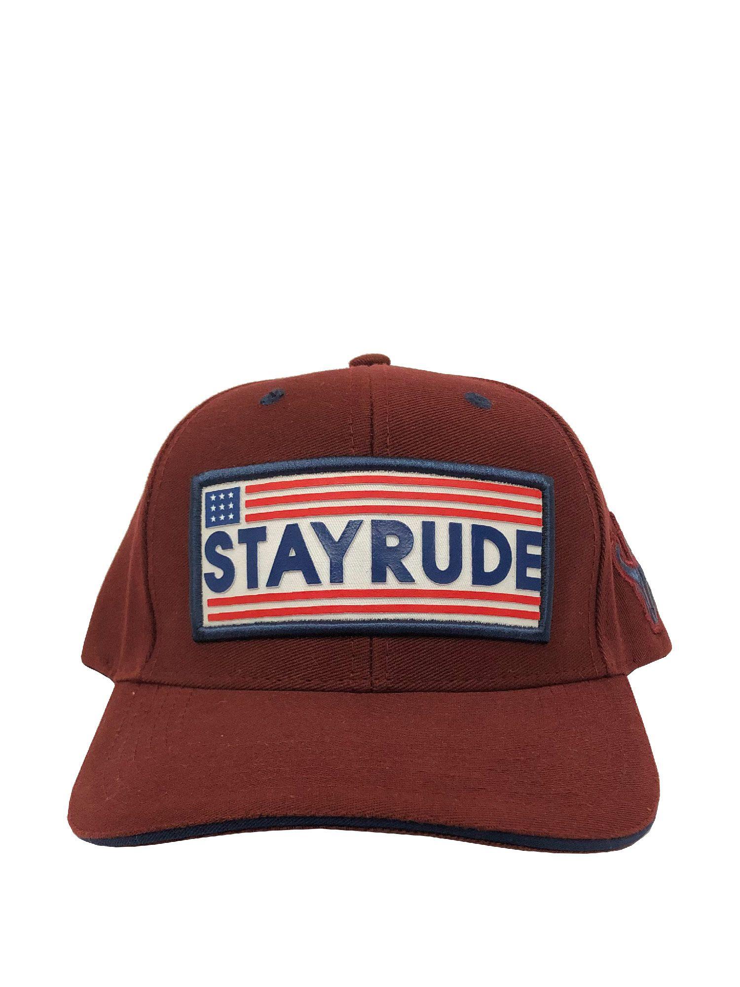 Boné Stay Rude Band. E.U.A Vinho