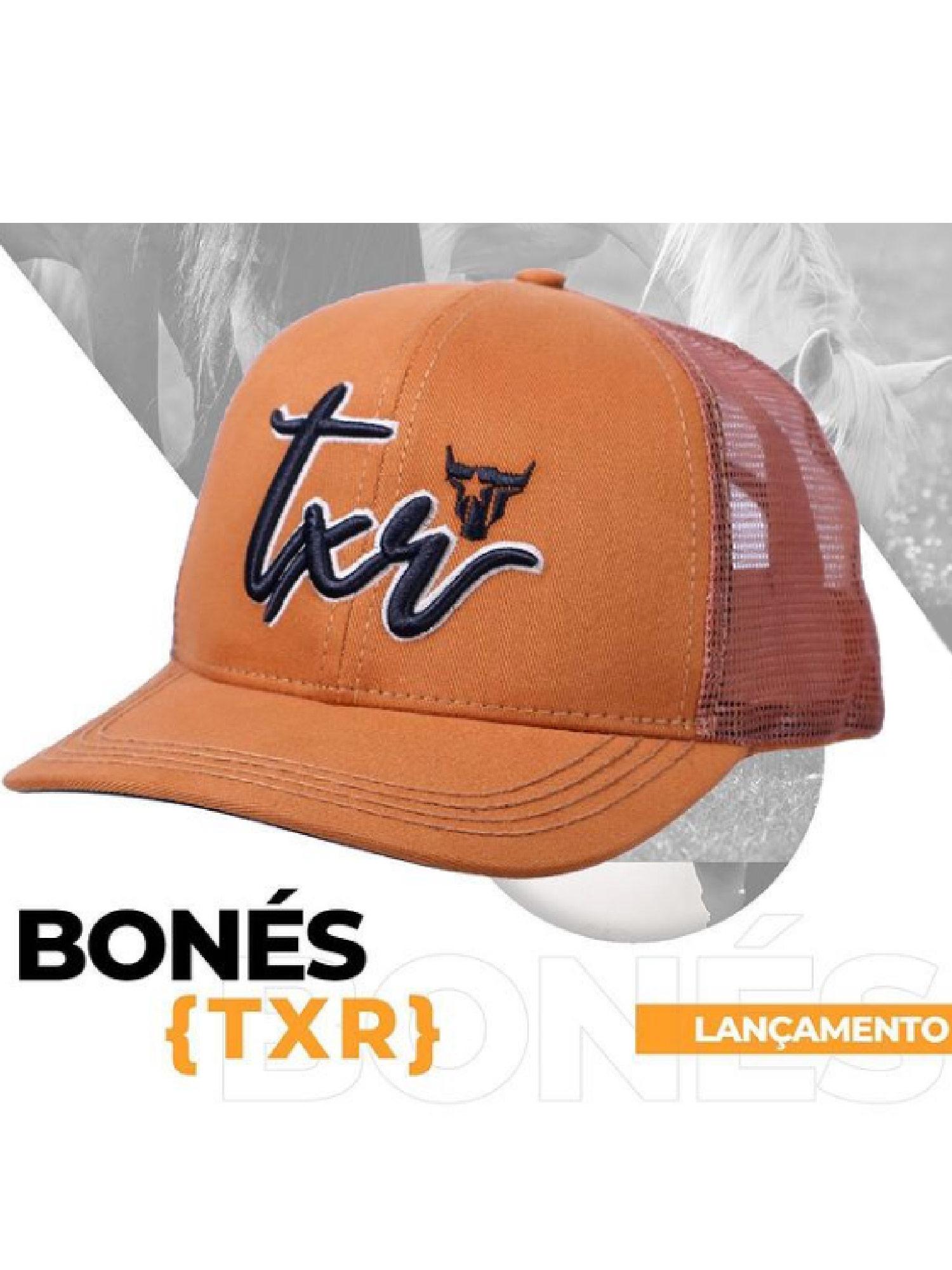 Boné Texas Road Caramelo e Preto com tela