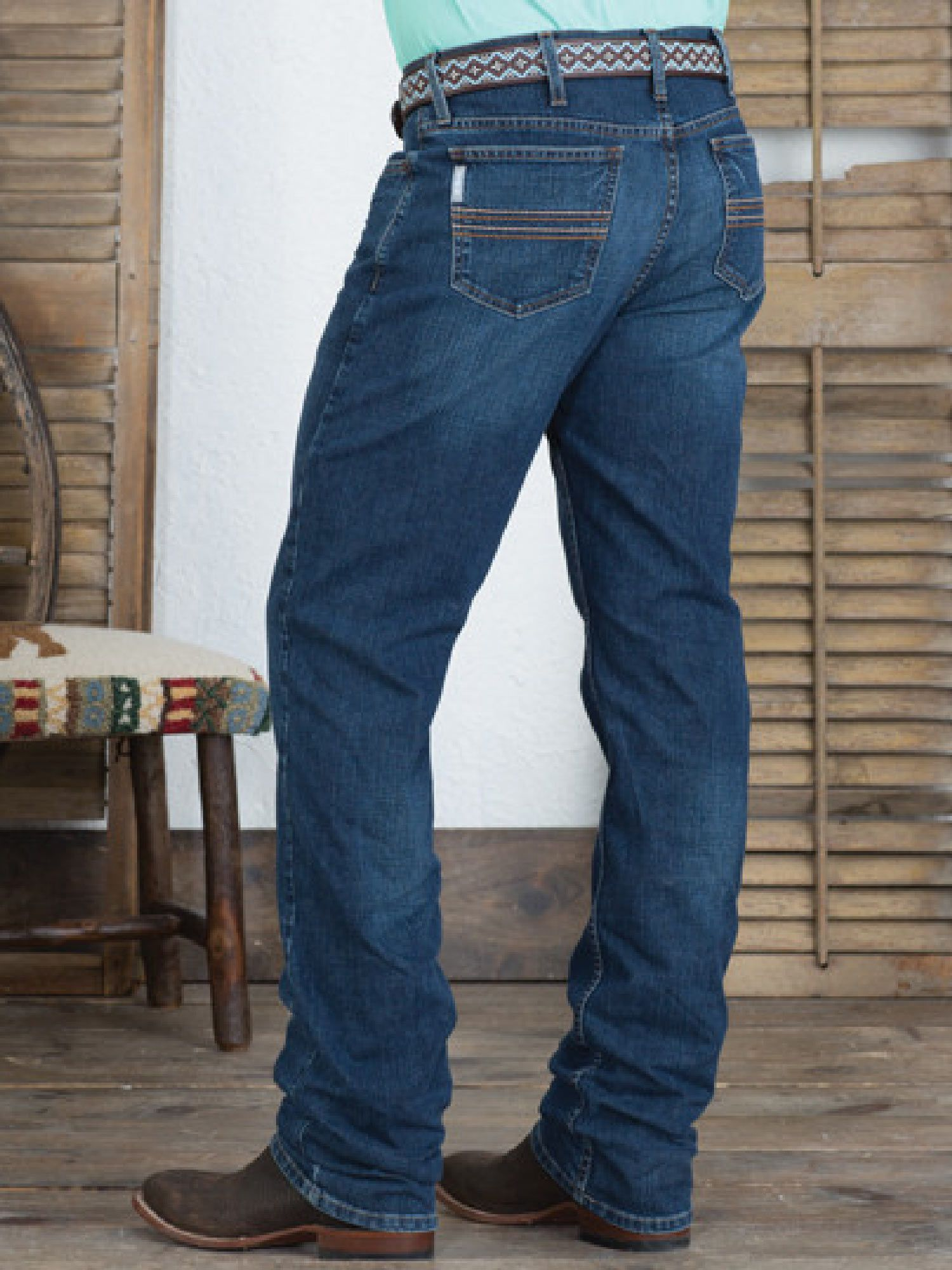 Calça Jeans Cinch Silver Label Slim Fit Stone