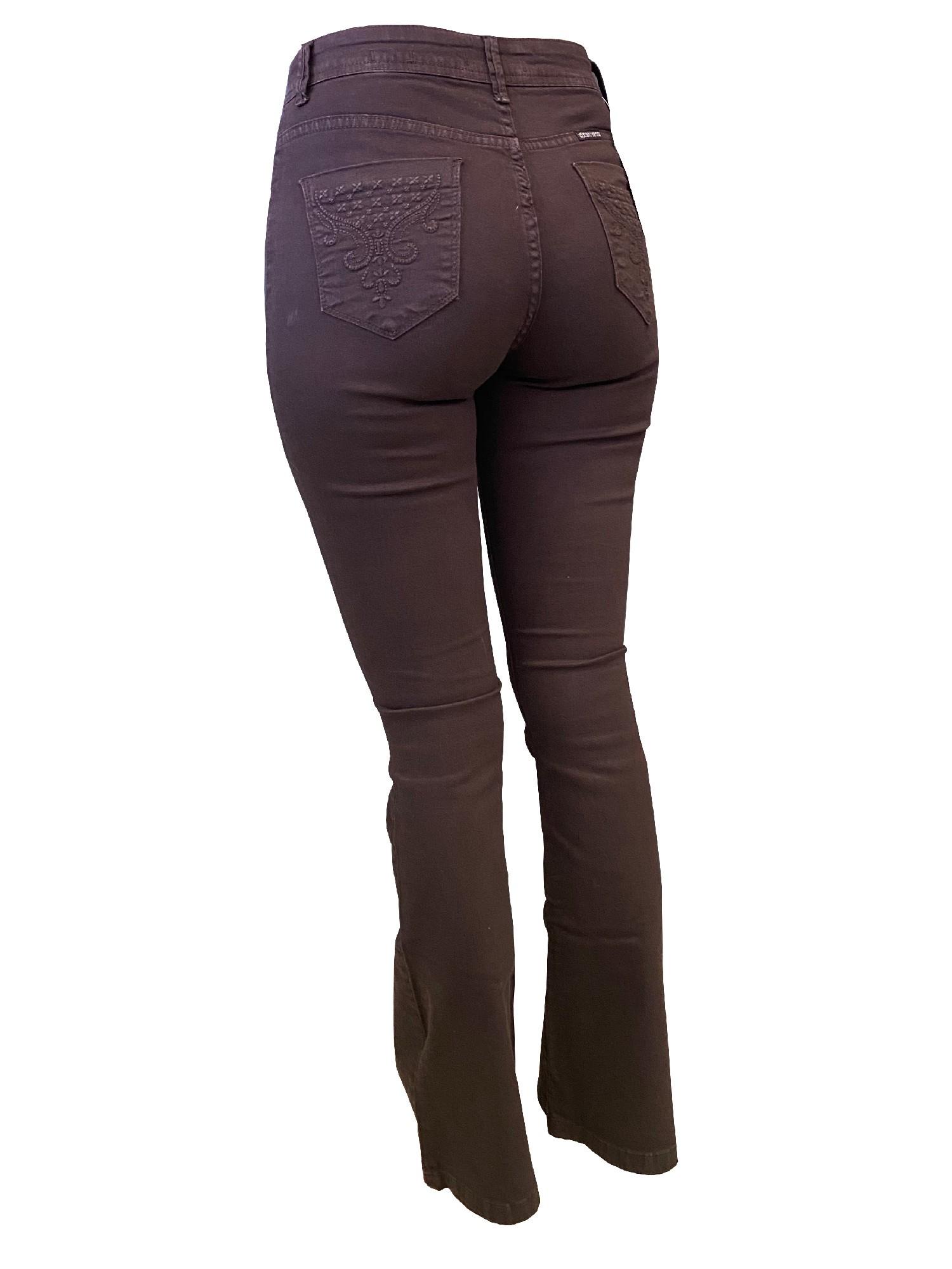 Calça Jeans Feminina Smith Brother's Flare Marrom Ref. 5008
