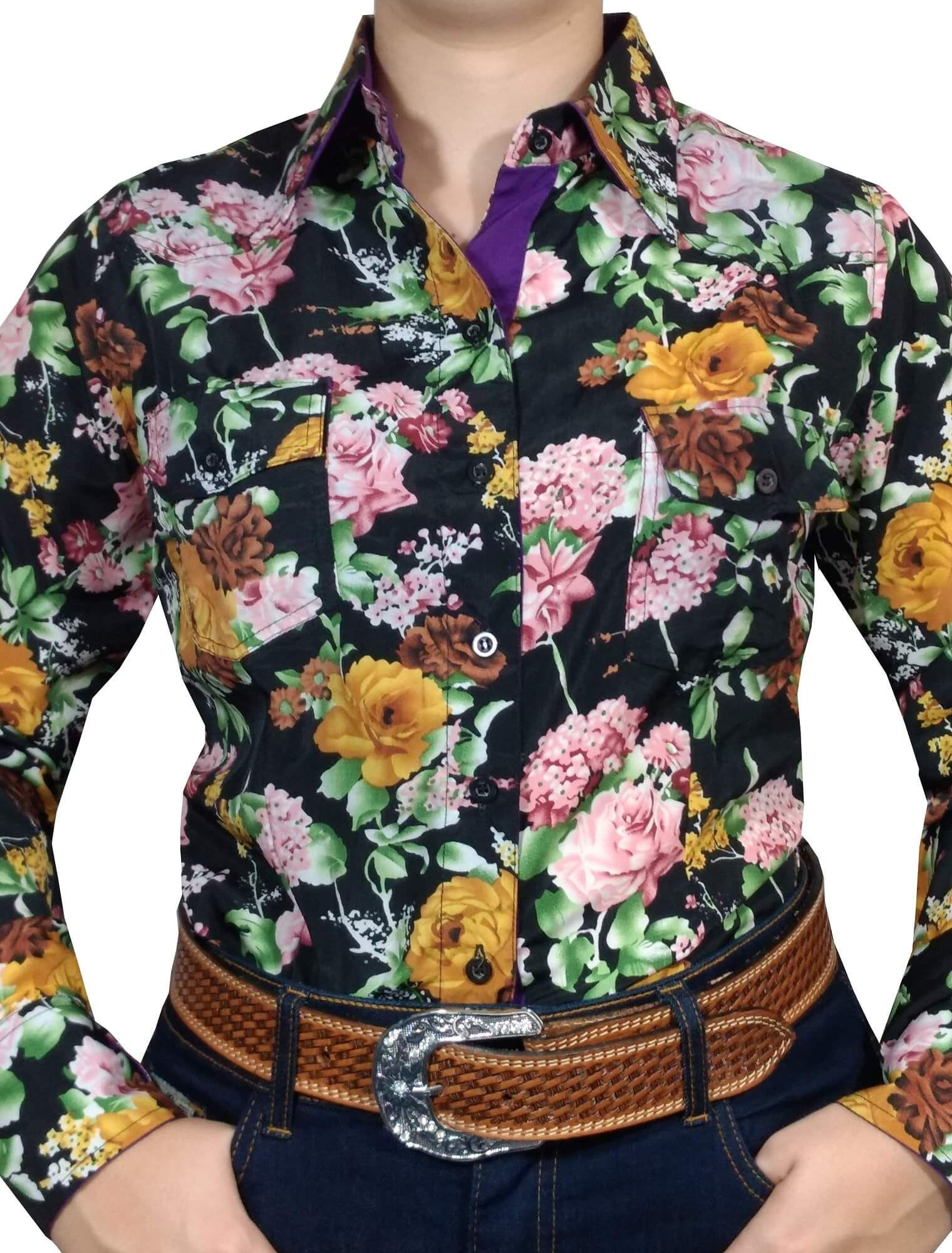 Camisa Feminina Absolut Country Floral Ref. 18232