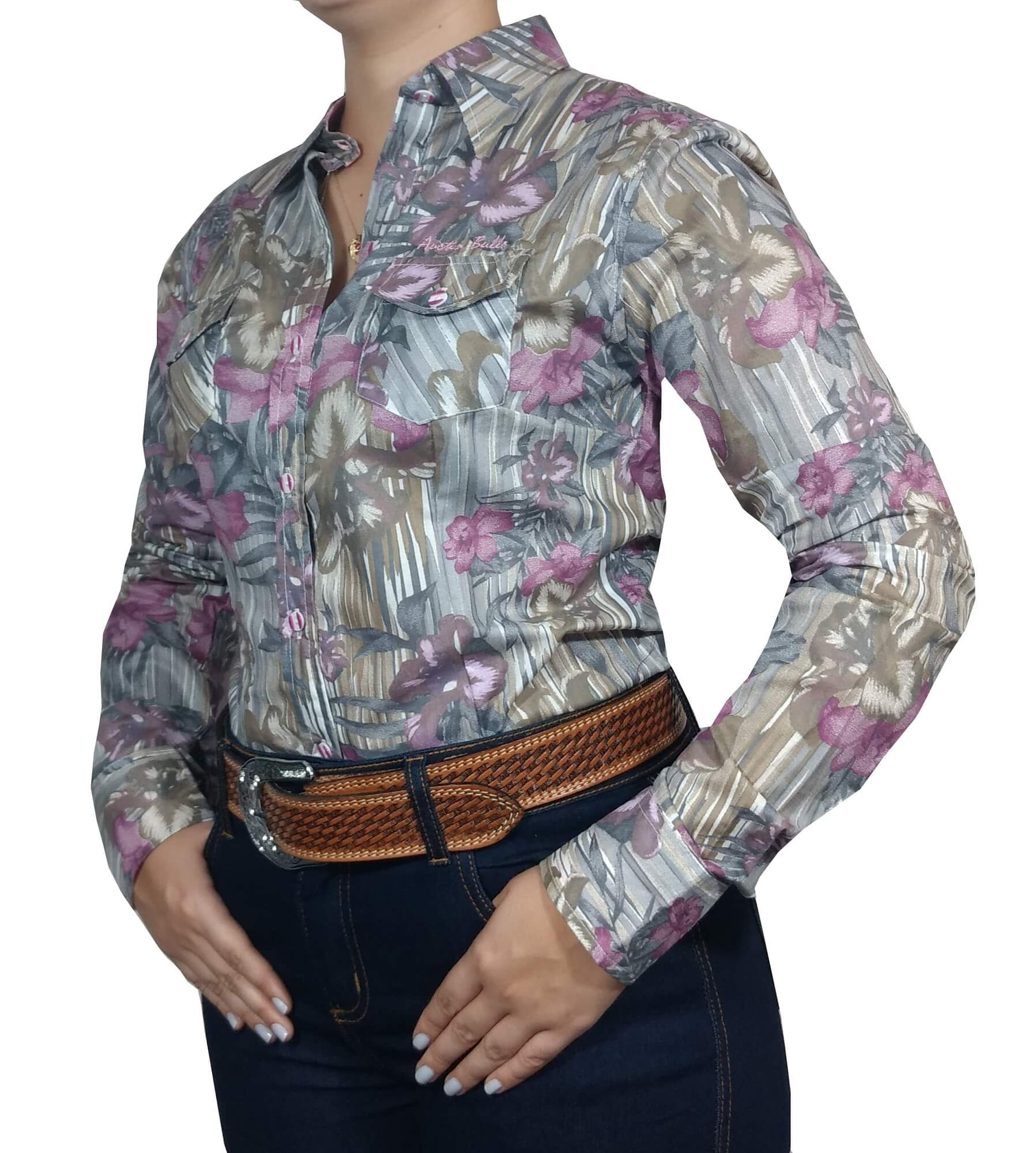 Camisa Feminina Austin Bulls Ref. 01 Floral