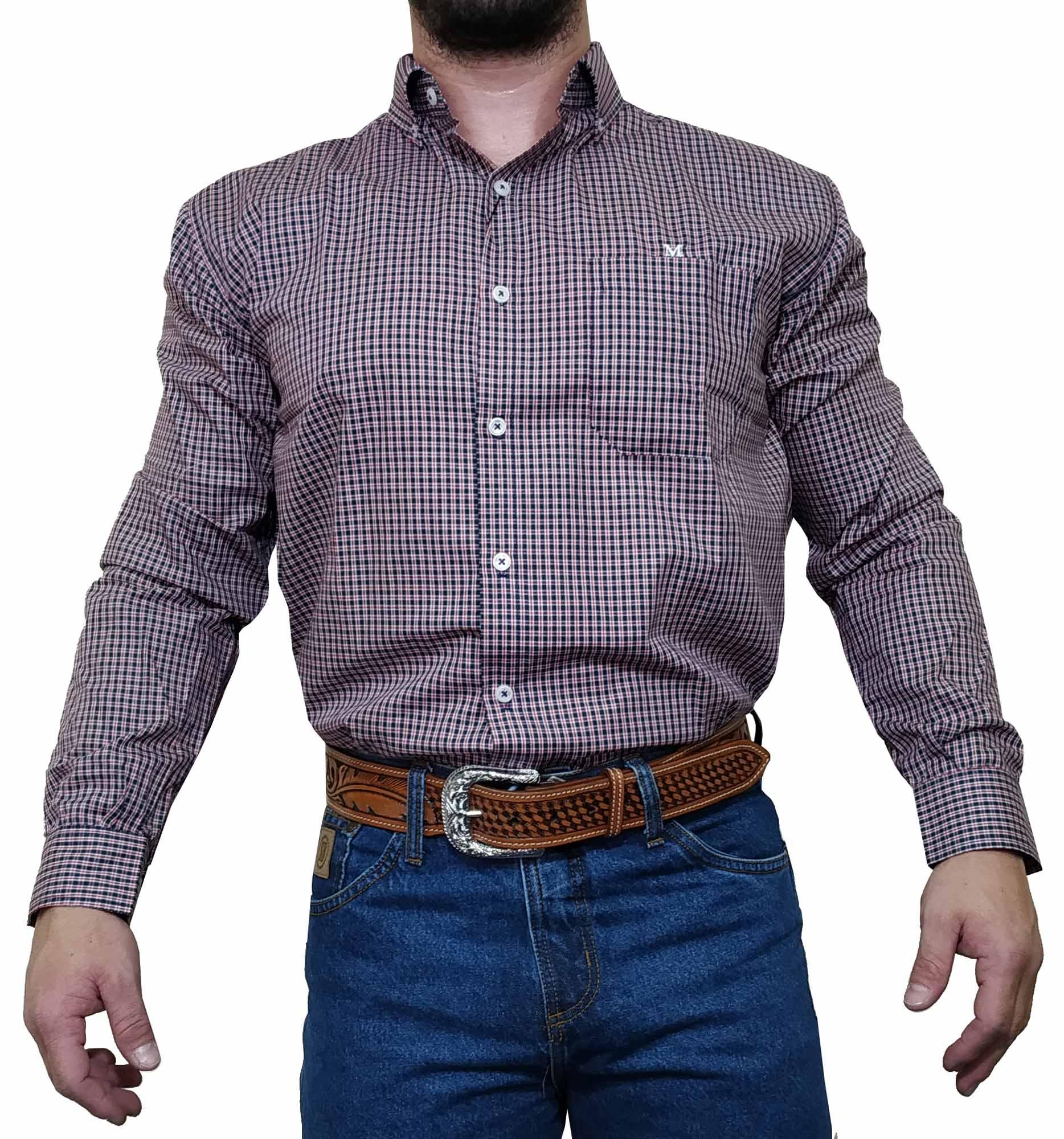 Camisa Masculina Minuty Country Xadrez Ref. 2910