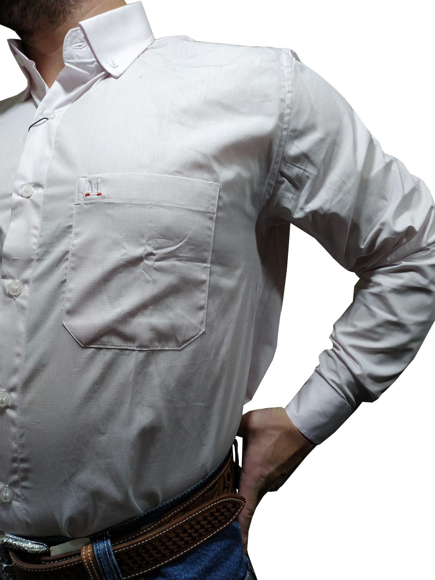 Camisa Masculina Minuty Xadrez Pequeno Rosa Ref. 2502