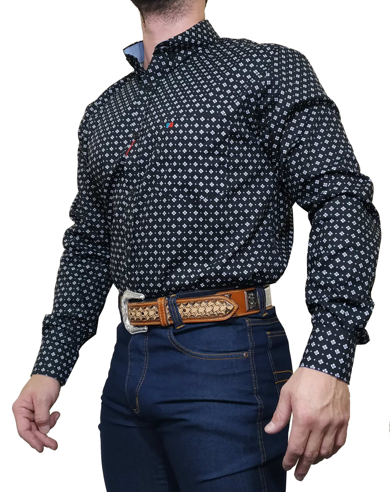 Camisa Masculina Smith Brothers Preta Ref. Losango