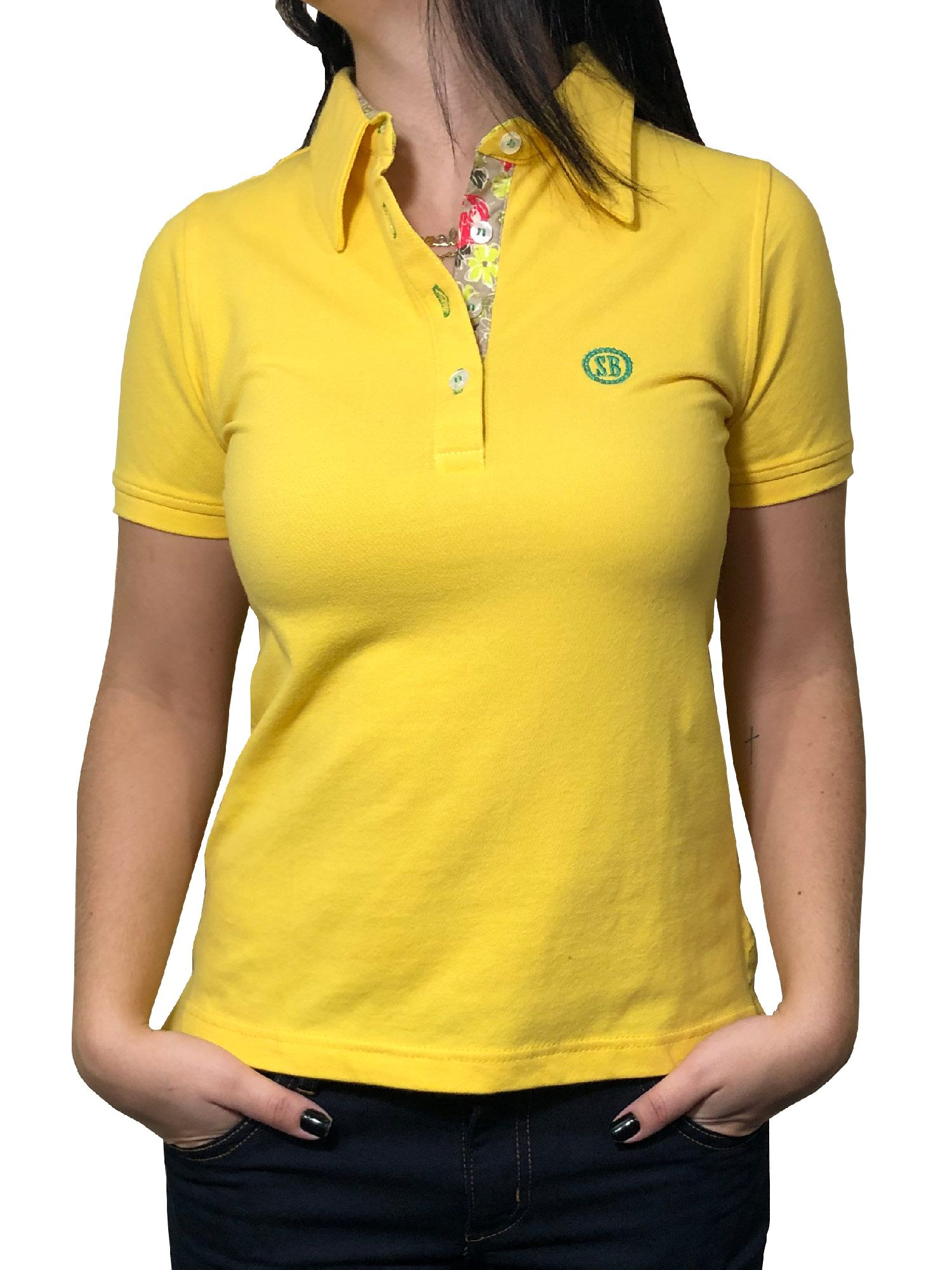 Camisa Polo Feminina Smith Brothers Amarela