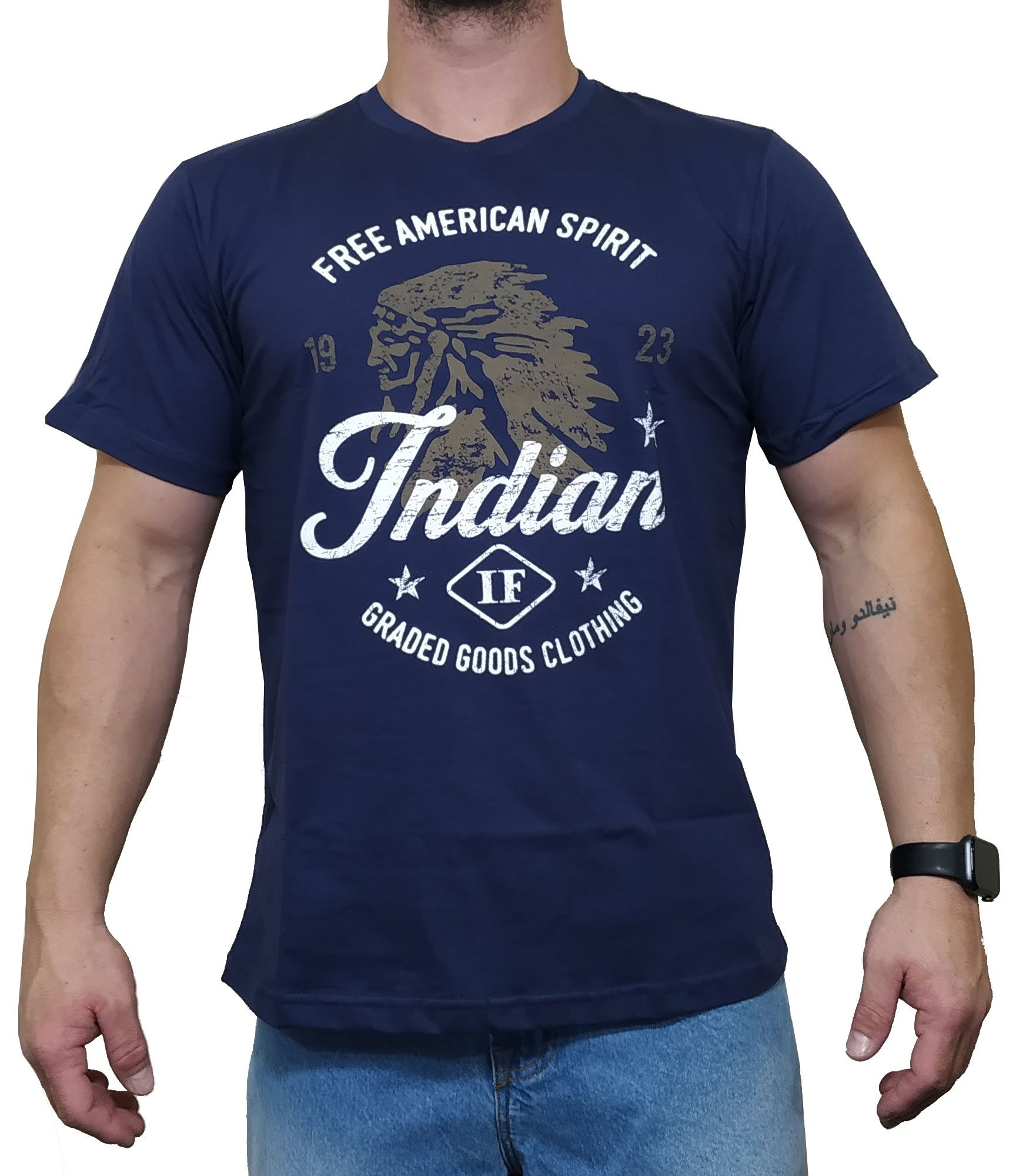 Camiseta Indian Farm  Azul Marinho Ref. Goods Clothing