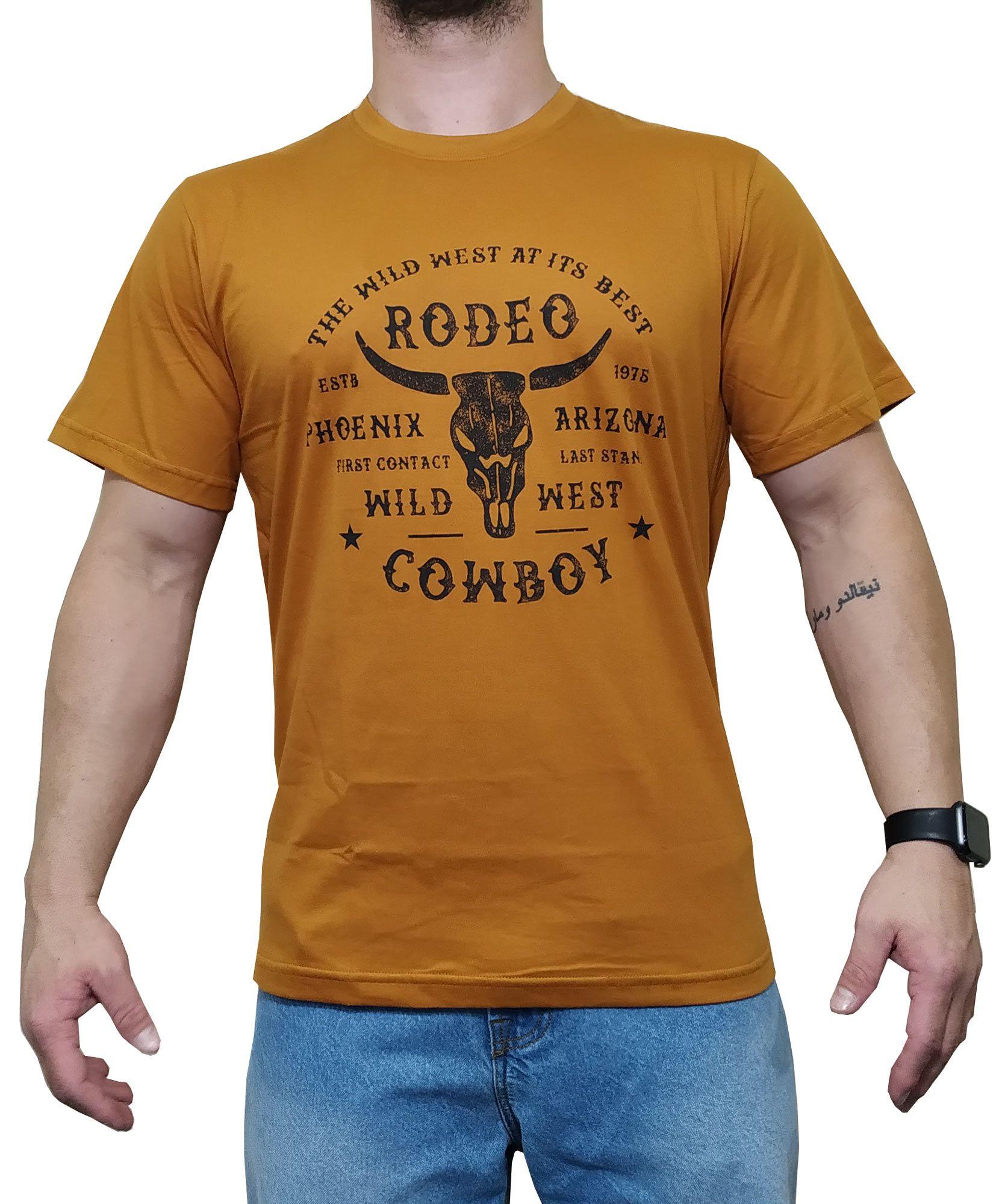 Camiseta Indian Farm Mostarda Ref.  Wild West