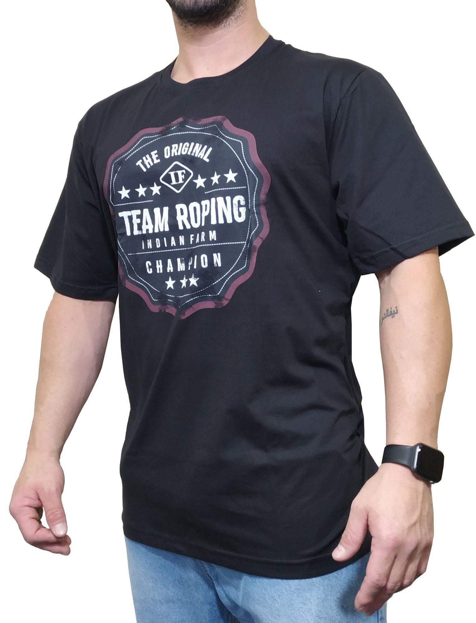 Camiseta Indian Farm  Preta Ref. Team Roping