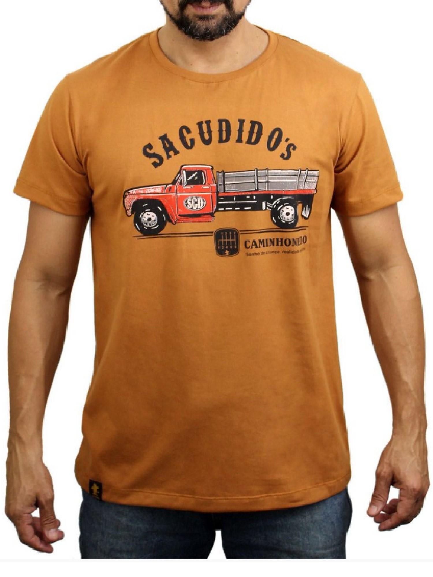 Camiseta Masculina Sacudido's Caminhao Desert