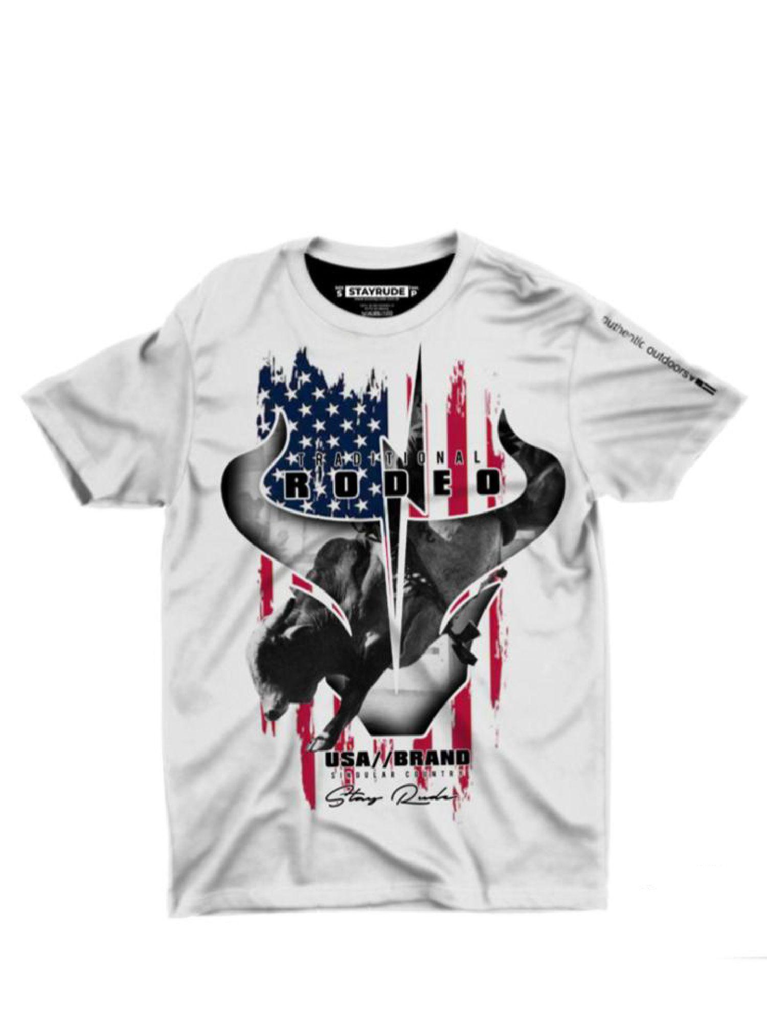 Camiseta Masculina Stay Rude Black Bull Rodeo