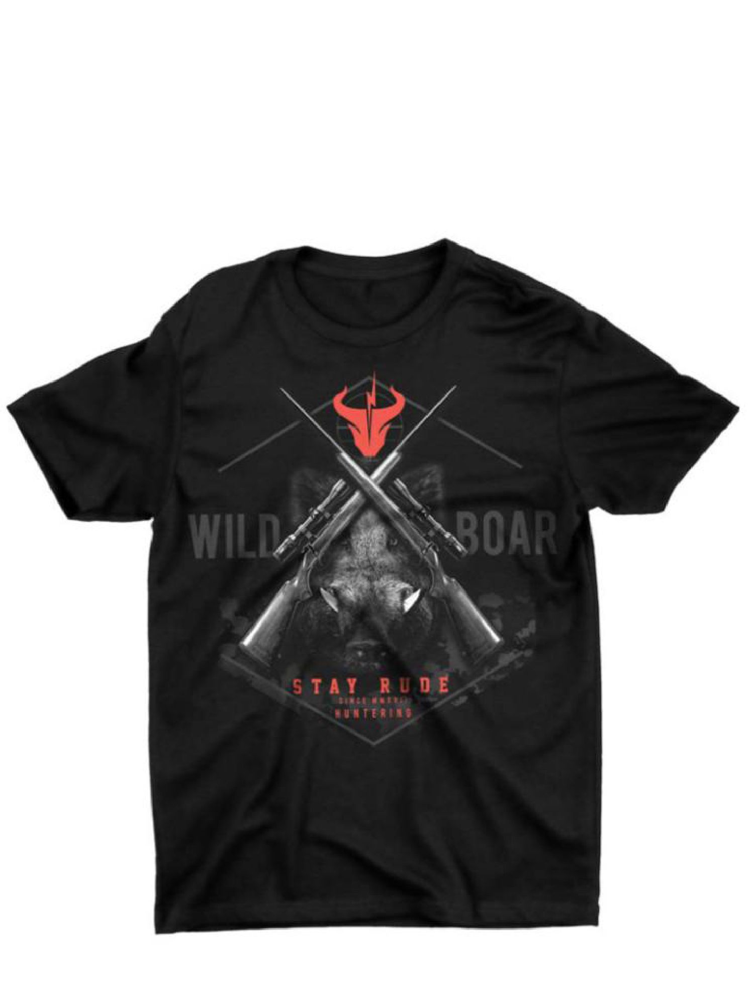 Camiseta Masculina Stay Rude Hunter Boar