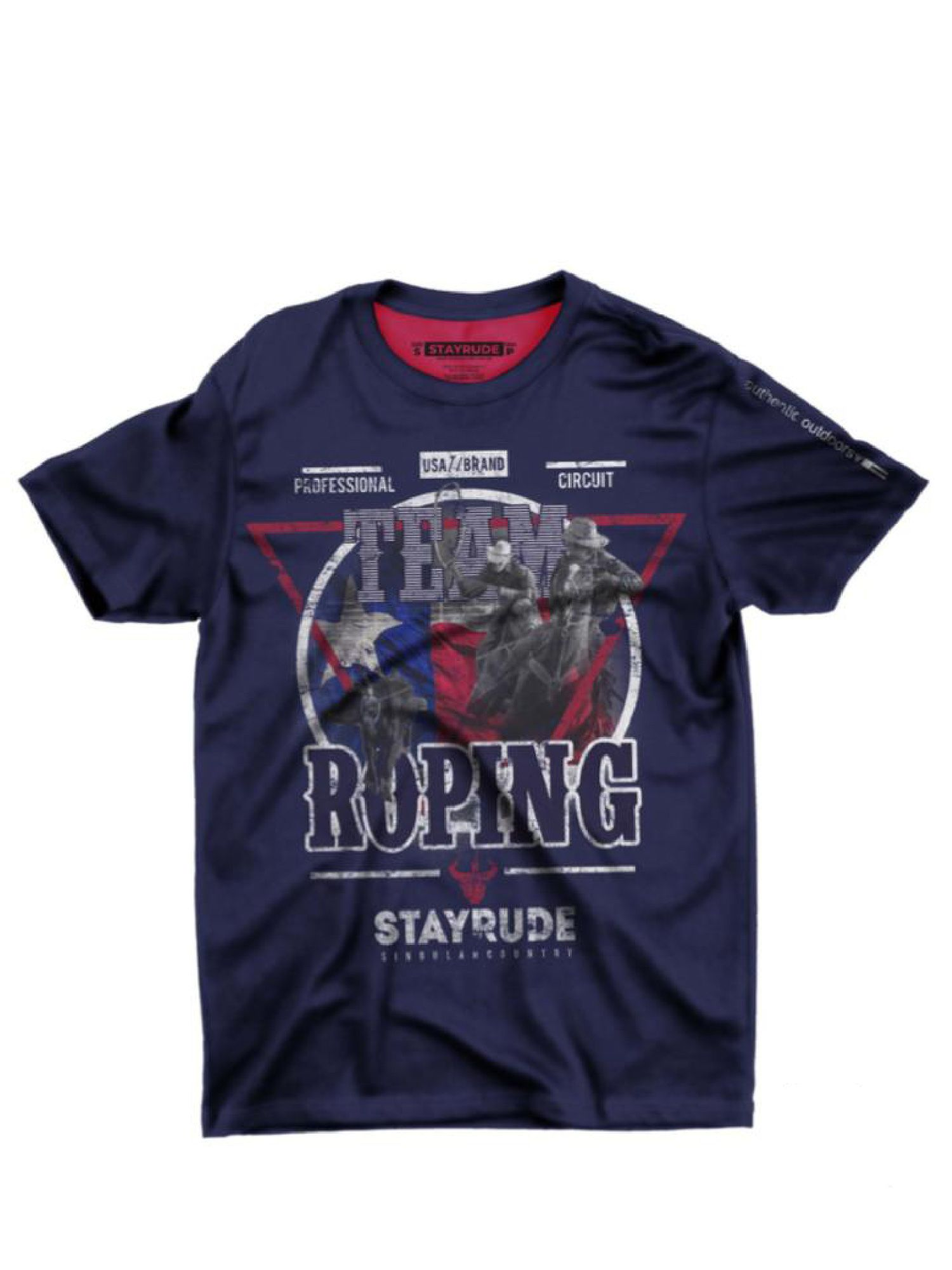 Camiseta Masculina Stay Rude Team Roping Azul Marinho