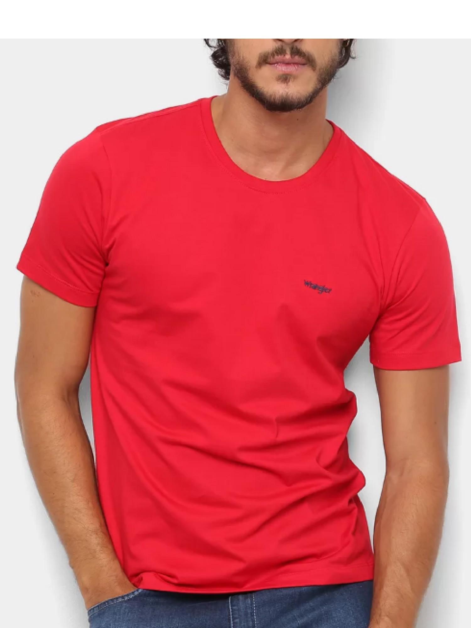 Camiseta Masculina Wrangler Vermelha Ref. WM58521VM