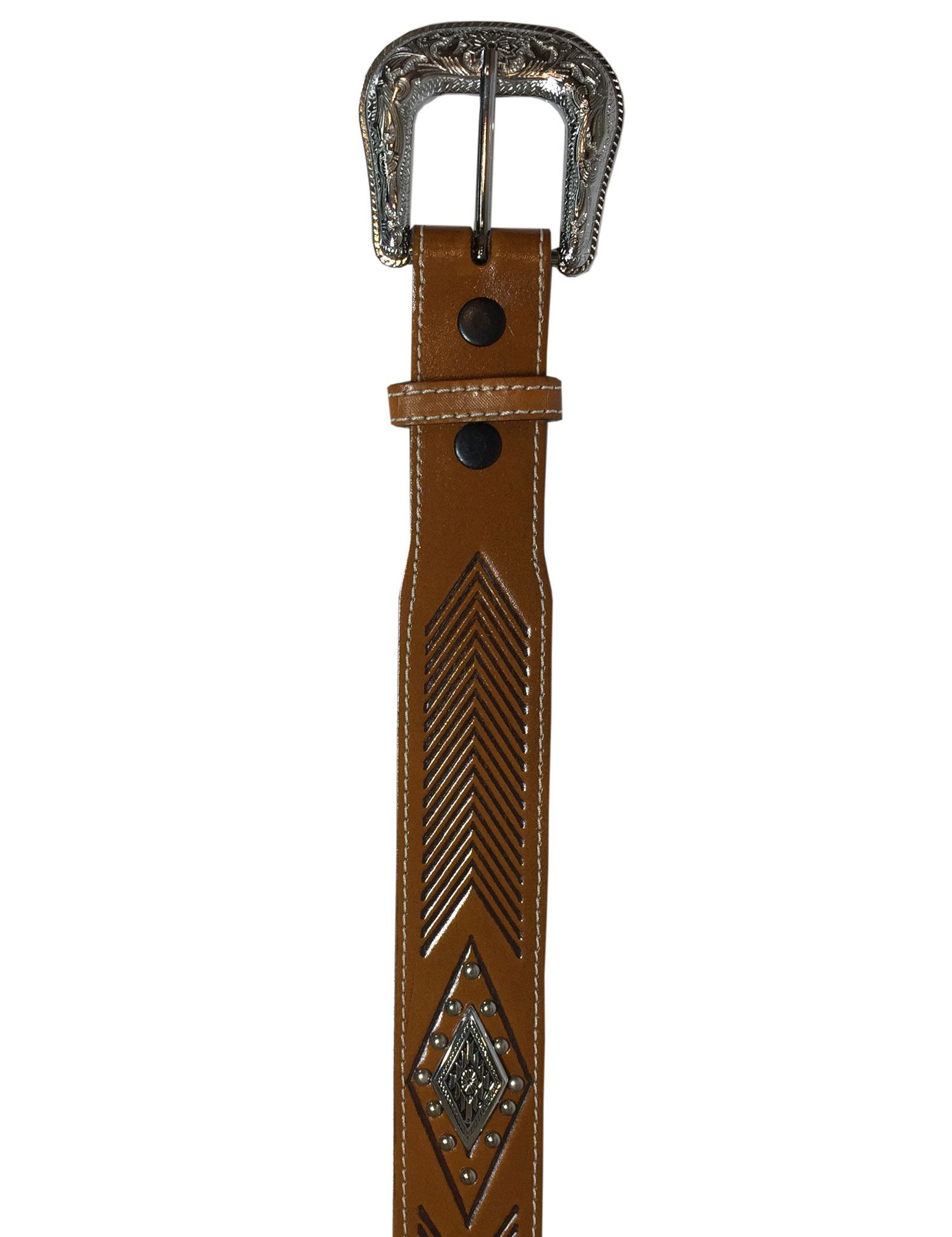 Cinto Cowboy Brand Conhaque Charroas Ref. 8083