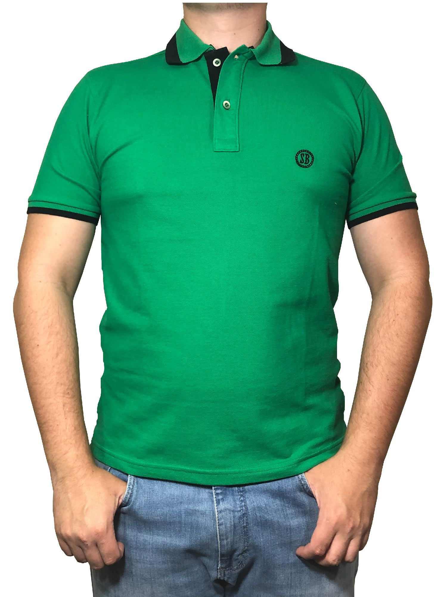 Polo Masculina Smith Brother's Verde/Preta