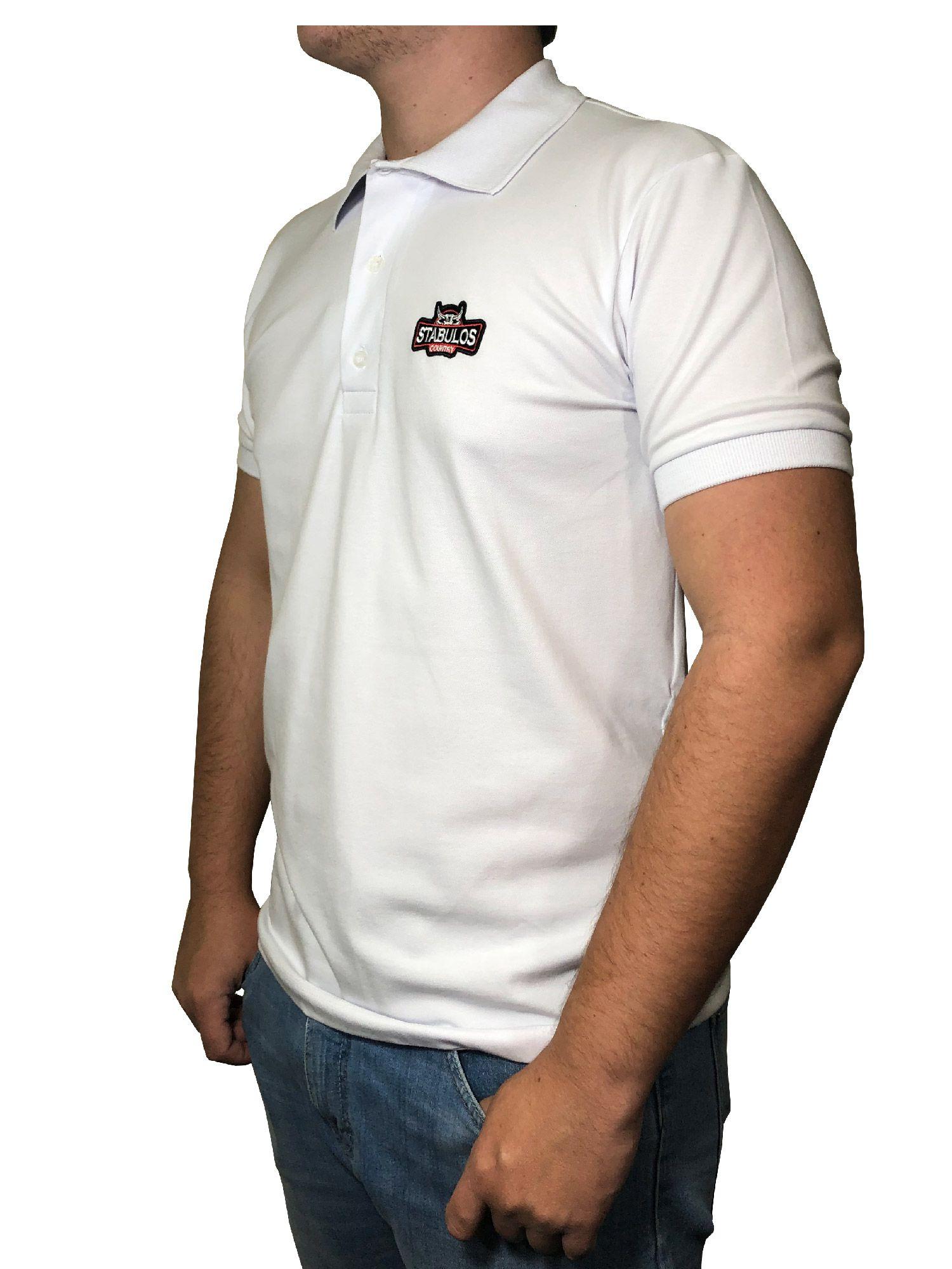 Polo Masculina Stabulos Branca Ref. ST401