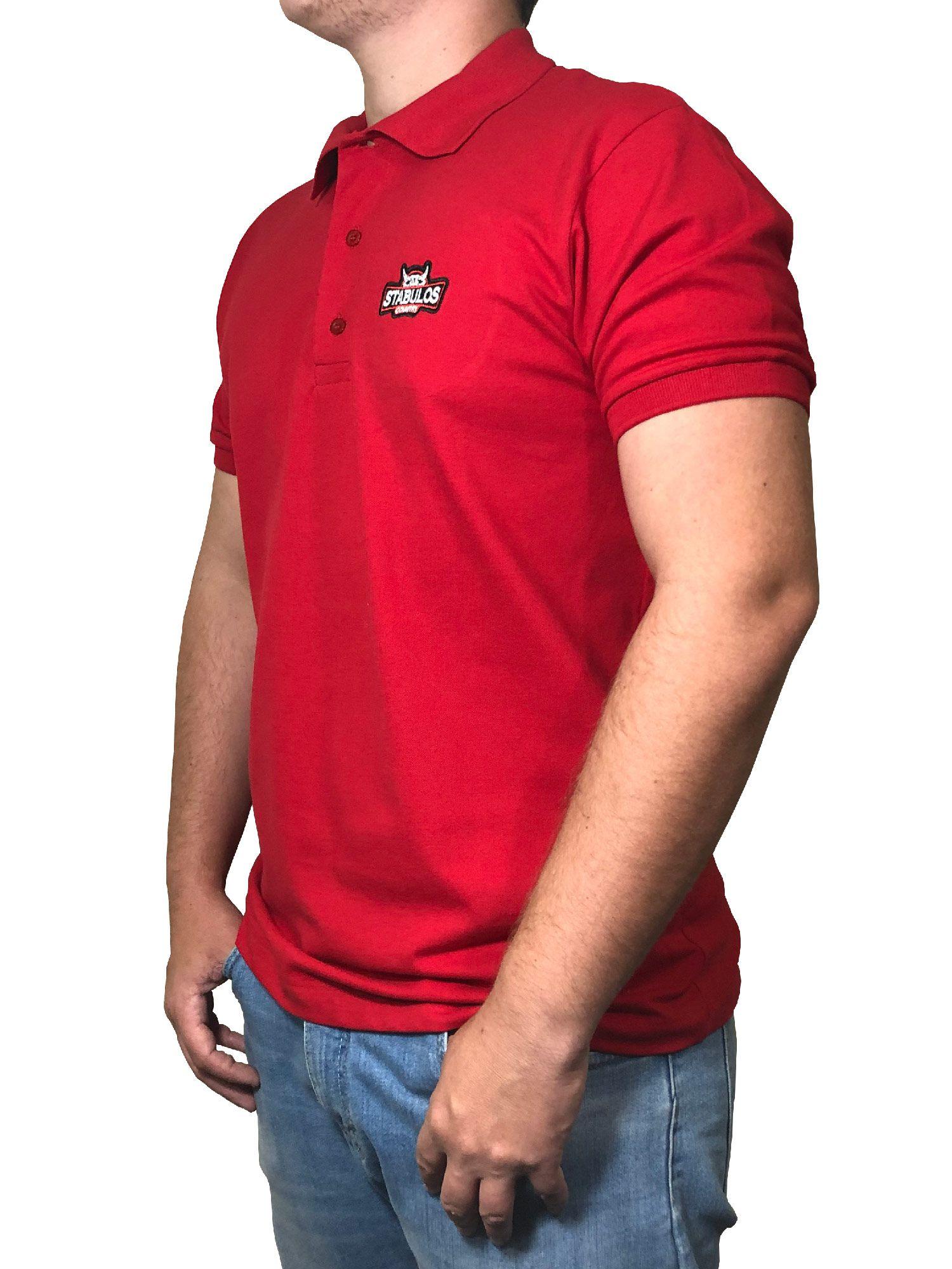 Polo Masculina Stabulos Vermelha Ref. ST401