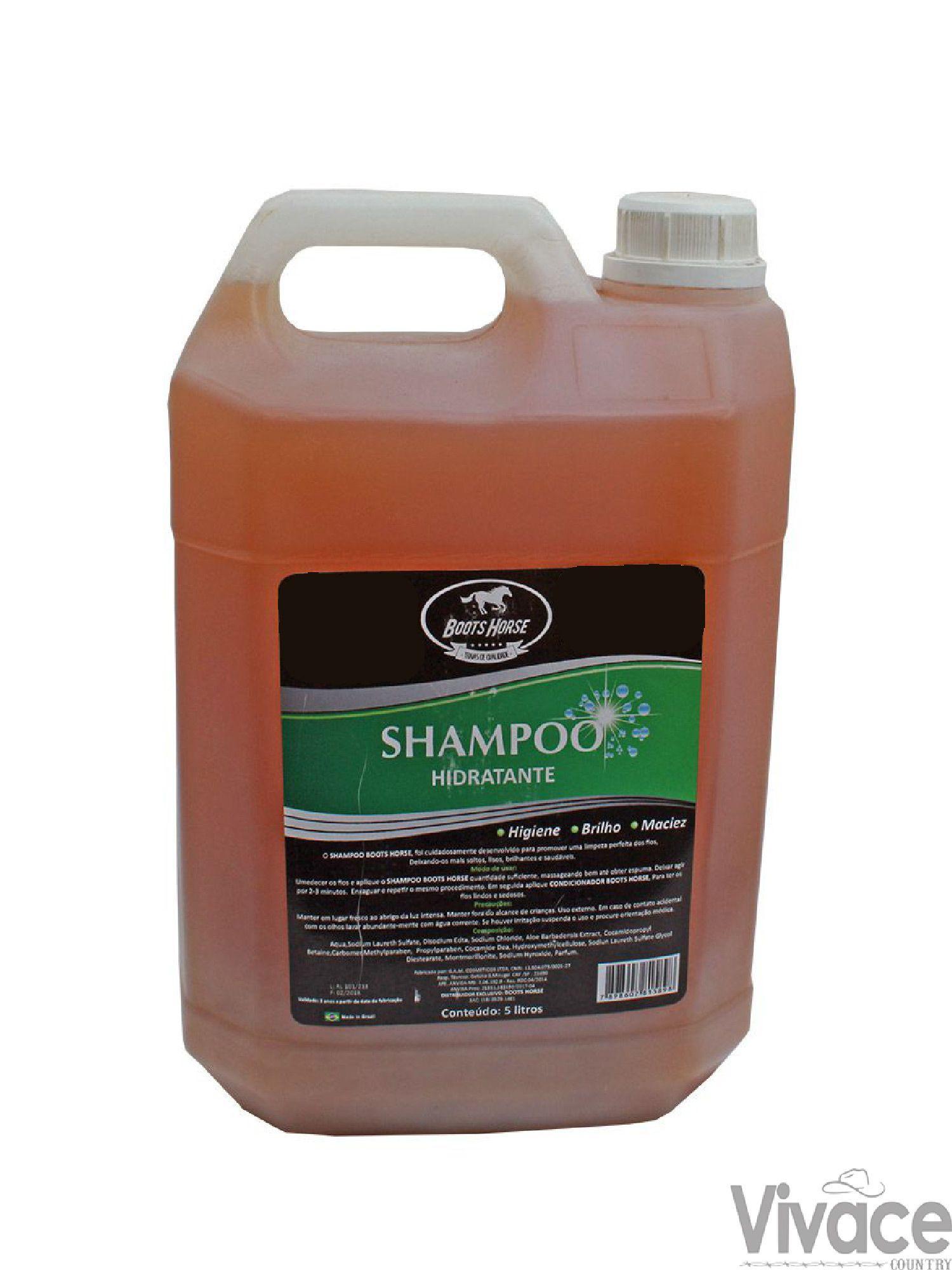 Shampoo c/ Hidratante Boots Horse 5 Litros