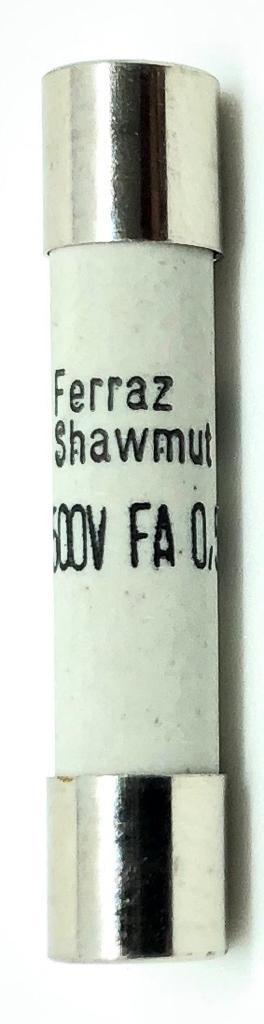 FUSIVEL 0,5A_500MA 500VAC 3AG 6,3X32MM B084204P MI6FA50V0,5 FERRAZ SHAWMUT_MERSEN