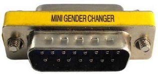 ADAPTADOR DB15 MACHO X DB15 MACHO USA PATENT 5199906 DB15M-DB15M GENDER CHANGER