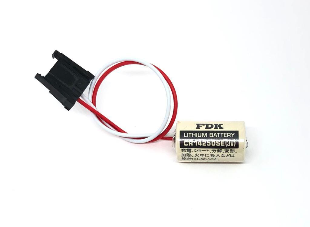 BATERIA DE LITHIUM 3V 850MAH 1747-BA ABB_CR14250SE COM FIO E CONECTOR FDK_SANYO