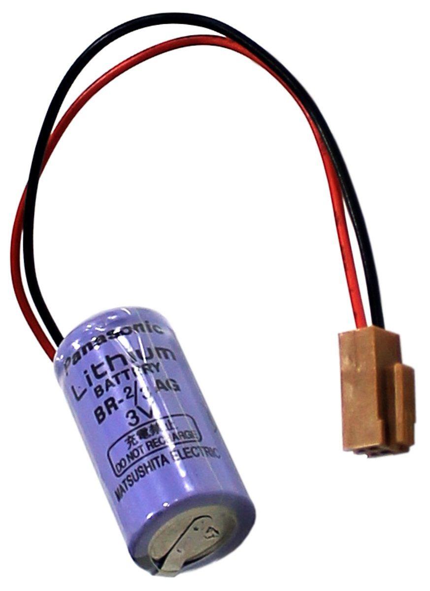 BATERIA DE LITHIUM 3V BR-2/3AG COM FIO E CONECTOR PANASONIC (BR23AG)