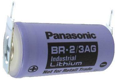BATERIA DE LITHIUM 3V BR-2/3AGE5SP 02 TERMINAIS SOLDA PCI PANASONIC (BR23AGE5SP)