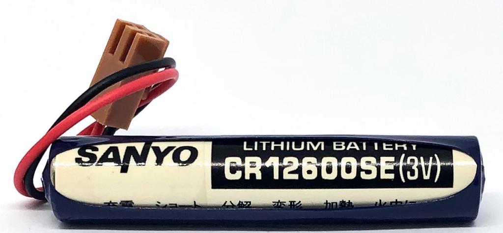 BATERIA DE LITHIUM 3V CR12600SE COM FIO E CONECTOR FDK_SANYO (CR12600SE)