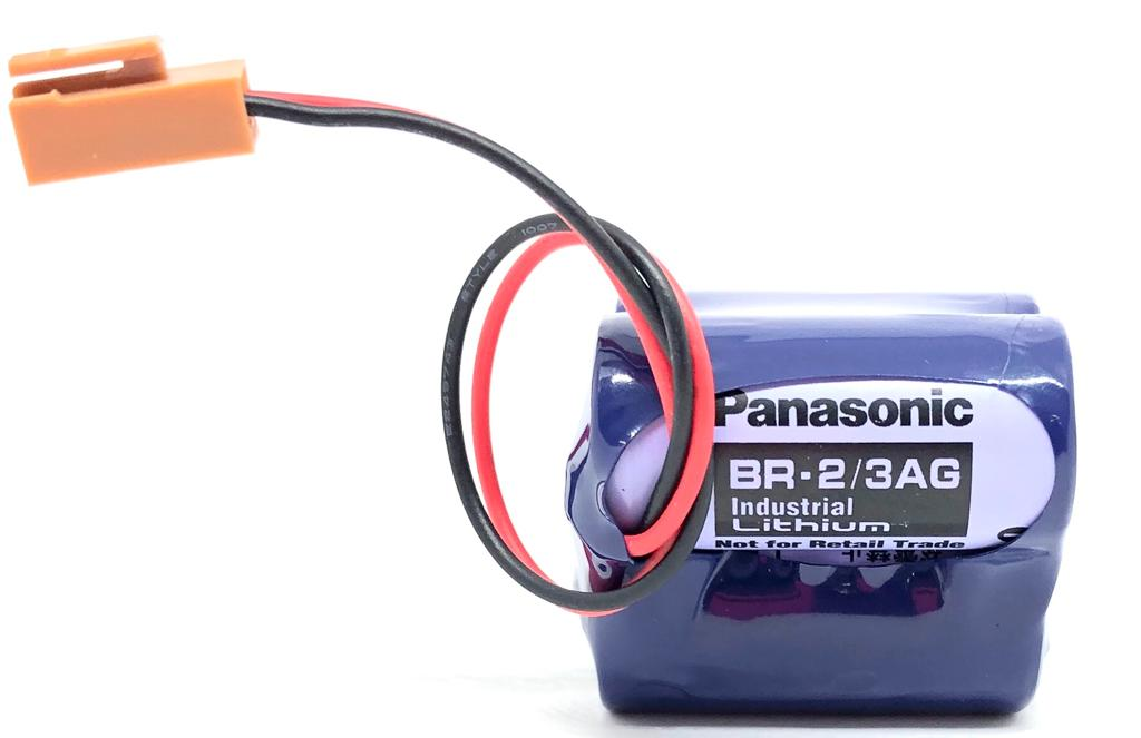 BATERIA DE LITHIUM 6V COM FIO E CONECTOR BR-2/3AGCT4A PANASONIC (BR23AGCT4A)